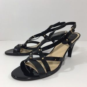 Cole Haan Nike Leather/Patent Strappy Sandals 10M